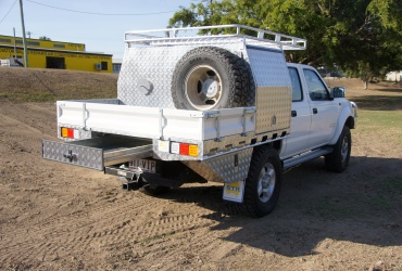 27. Half Canopy with Underbody  Drawer and Toolboxes, Overhang Rack & Spare Tyre Holder