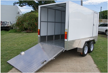 24. Pantec Tandem Trailer with Rear Door Ramp