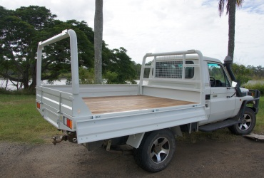 1. Painted Steel Ute Tray with Timber Floor & Rear Rack